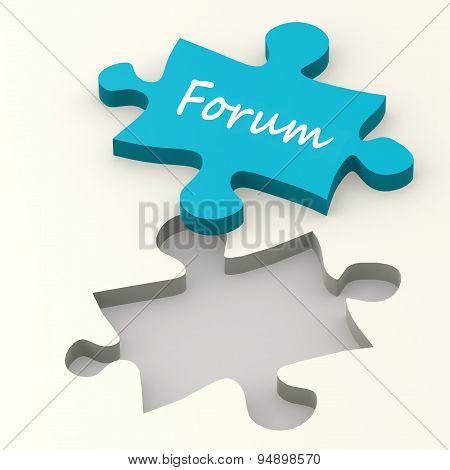 Forum Blue Puzzle