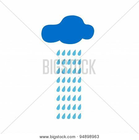 Cloud And Rain Vector Illustration