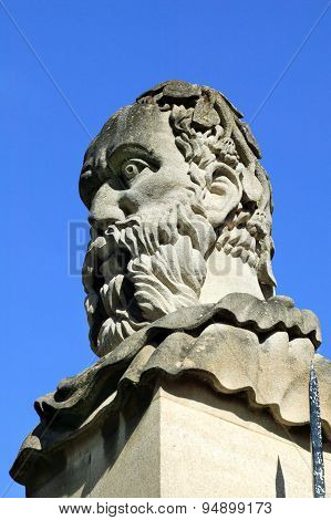 Roman emperor head Sheldonian Theatre