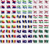 stock photo of turkmenistan  - Saint Martin Sierra Leone Jersey Benin Barbados Hungary Romania Falkland Islands Turkmenistan - JPG