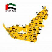 image of rig  - Map United Arab Emirates  - JPG