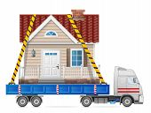 stock photo of truck-cabin  - Big home fastened in back of truck - JPG