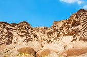 image of pumice-stone  - Volcanic mountains of white pumice - JPG
