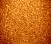image of saffron  - Deep saffron leather texture or background for design - JPG