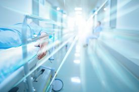 foto of hospital  - Dead patient in the hospital corridor - JPG