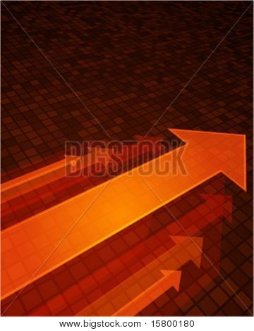 3g graph arrows move up in perspective vector background