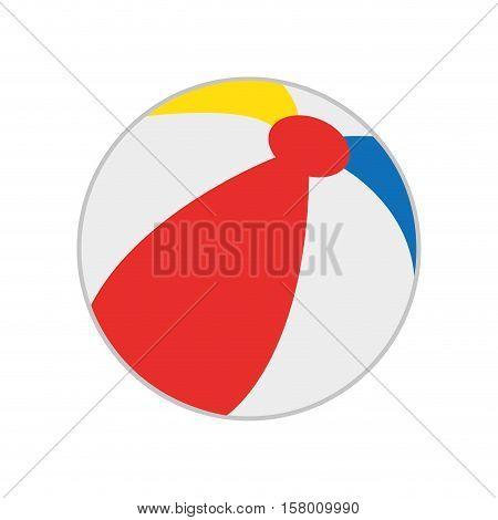 beach balloon isolated icon vector illustration design