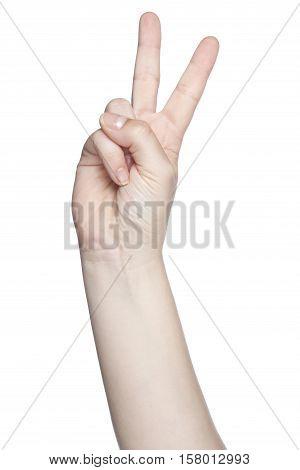 Worldwide Symbol Of Peace, Isolated On White Background