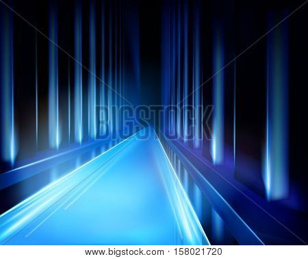 Virtual projection - tunnel. Vector illustration.