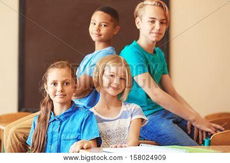 Cute kids in classroom