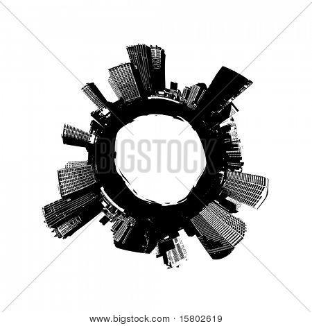 City around the world. Vector art