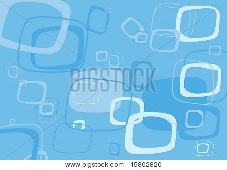 Blue rectangle vector background.
