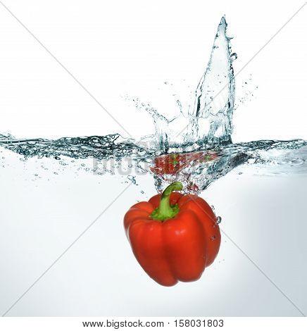 Fresh Bell Pepper In Water