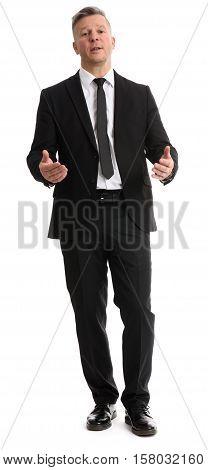 Full Length Portrait Of Senior Businessman