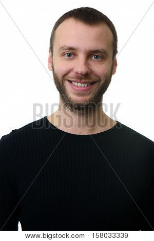Portrait Of Bearded Man With Toothy Smile
