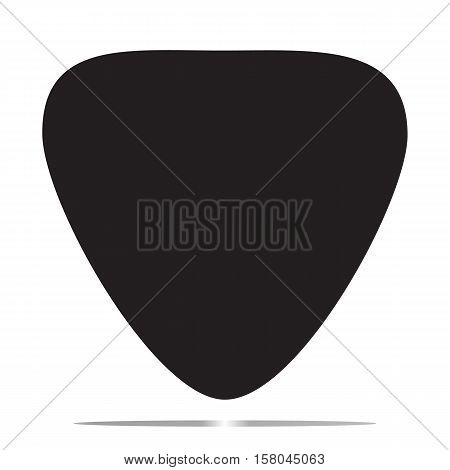 guitar pick icon on white background. guitar pick symbol.