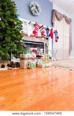 Decorated Upmarket Home At Christmas