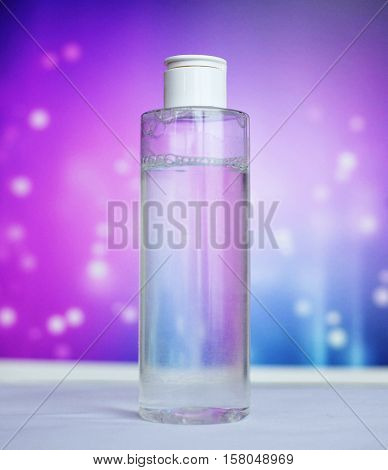 cosmetic tonic in the bottle. The concept of cosmetics and health.