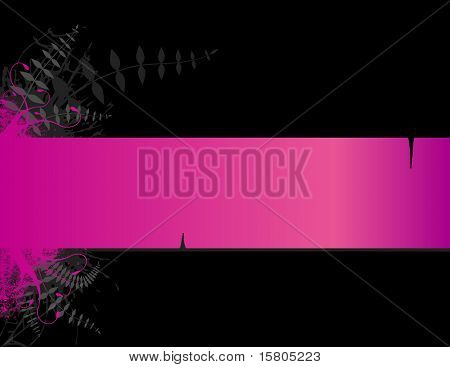 Pink stripe with place for text. Vector
