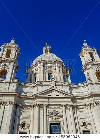 Sant'agnese In Agone Church At Piazza Navona In Rome