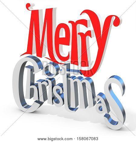 3D Merry Christmas Text