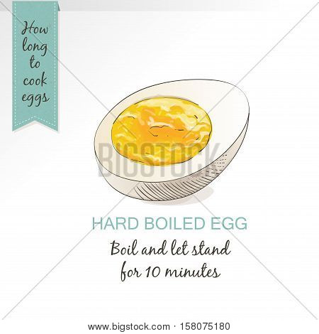 Boiled Egg as food vector isolated on white background