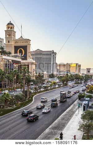 View To The Strip, The Famous Casino Mile In Las Vegas