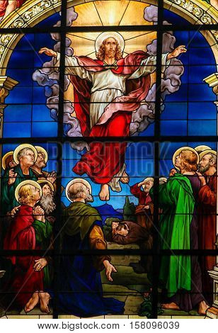 Ascension Of Jesus Christ - Stained Glass