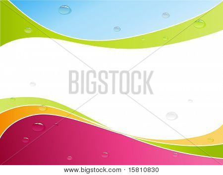 Bubbles on colorful surface. Vector art.