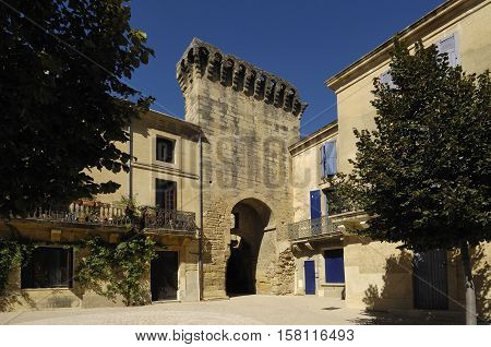 Annciene porte Ville, Remoulins Gard Languedoc-Roussillon France