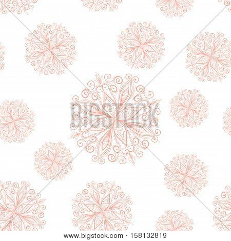 Seamless mandala pattern, Tribal Ethnic Ornament, Islamic Arabic Indian Pattern. Vector Illustration. Used for Design Element, Scrap Booking, Templates, Fabric, Flyer, Brochure, Site Background
