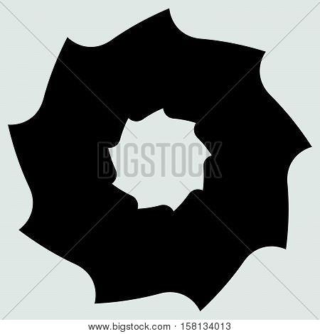 Circular Saw Blade. Abstract Shape / Symbol / Icon