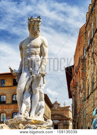 Statue Of The Neptune On The Piazza Della Signoria, Florence
