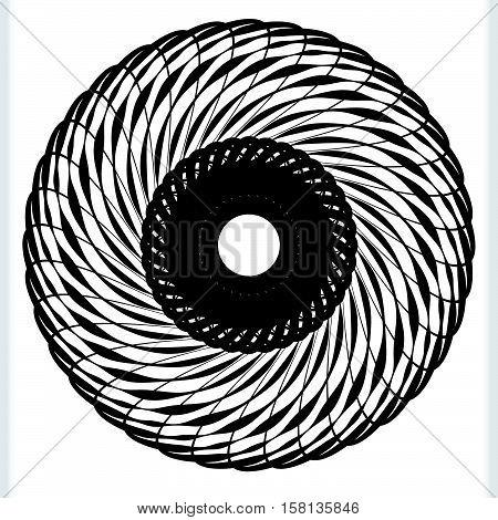 Geometric Circular Element - Rotating Spiral, Swirl Shape