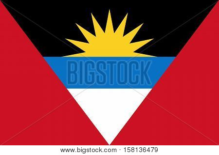 Official vector flag of Antigua and Barbuda .