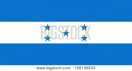 Official vector flag of Honduras . Republic of Honduras .