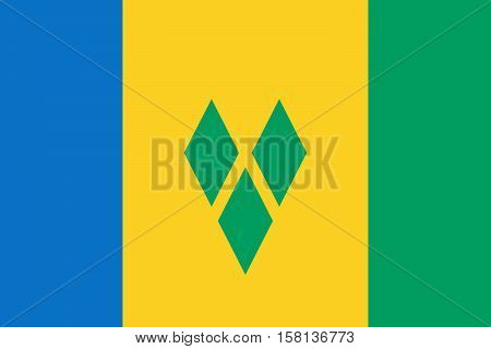 Official vector flag of Saint Vincent and the Grenadines .