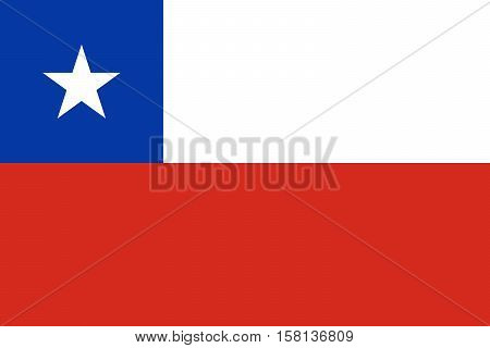 Official vector flag of Chile . Republic of Chile .