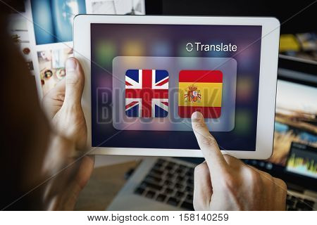 Flag Countries Foreign Word Translation