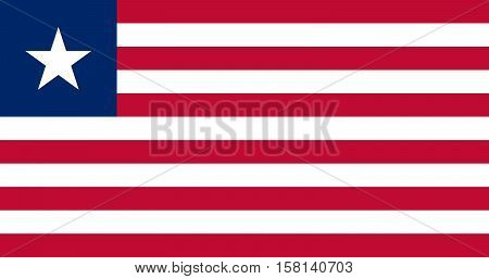 Official vector flag of Liberia . Republic of Liberia .