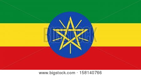 Official vector flag of Ethiopia . Federal Democratic Republic of Ethiopia .
