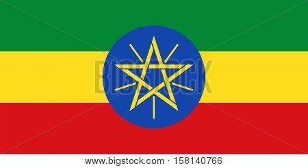 Official vector flag of Ethiopia . Federal Democratic Republic of Ethiopia .