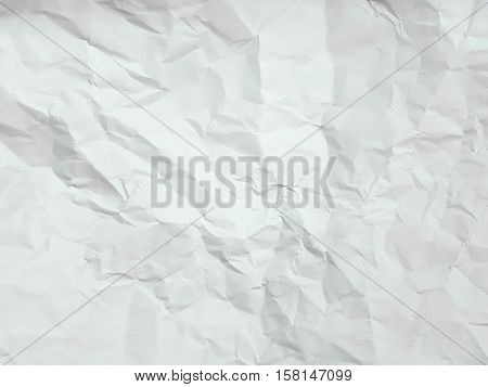 white creased, crumpled paper for background texture