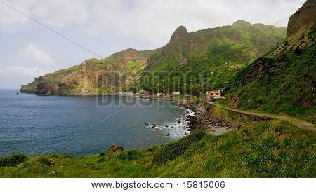 Coastal town of Faja D'Agua