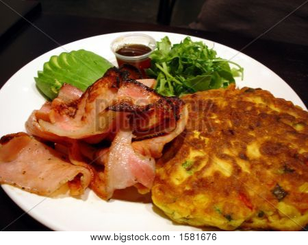 Sweetcorn Fritters With Bacon