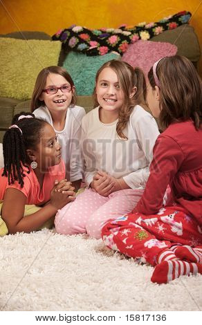 Four Girls At A Sleepover