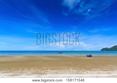 Beach white and sky beautiful colors of thailand