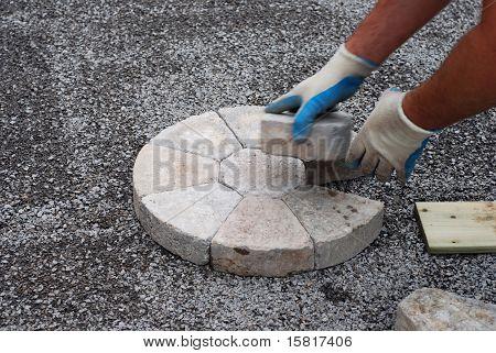 Patio Bricks Installation