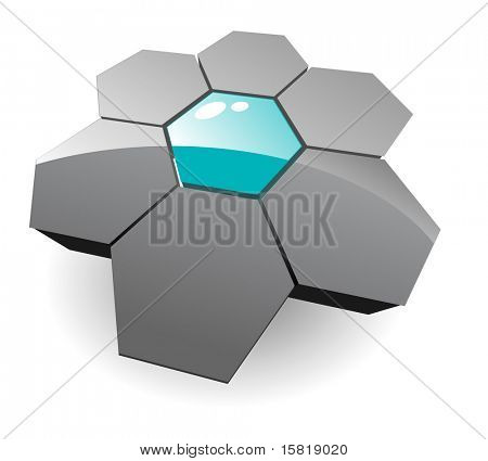 Jpg version, hexagons 3d. Vector version in my portfolio.
