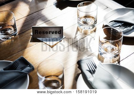 Indoors Banquet Tableware Event Concept